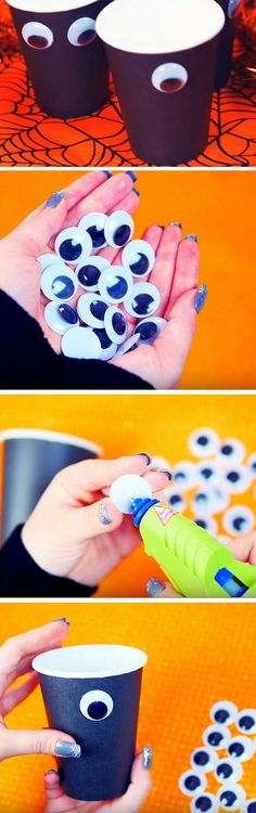 Googly Eye Cups | 19 DIY Halloween Party Ideas for Teens that are totally spooktacular!