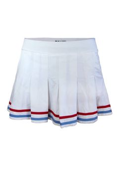 Pleated Skort in White with Red and Carolina Blue Tipping Tennis Skort, Tennis Dress, Tennis Clothes, Tennis Fashion, Fashion Games, Sporty Fashion, Women's Fashion, Fashion Trends, Preppy Outfits