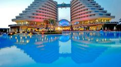 hotel miracle in lara turkije april 2016 Hotels And Resorts, Best Hotels, Outside Pool, Hotel Reservations, Cheap Hotels, Antalya, Modern House Design, Mansions, Greece