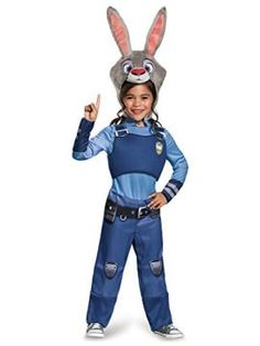 Straight from the mammal metropolis, she'll enforce the peace in this Zootopia Judy Hopps Child Costume! Order her Zootopia Judy Hopps Costume size now! Zootopia Halloween Costumes, Toddler Halloween Costumes, Disney Costumes, Halloween Kostüm, Girl Costumes, Cosplay Costumes, Costume Ideas, Party Costumes, Cosplay Ideas