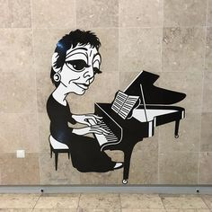 Pianist Maria Joao Pires #pianista #pianist #portugal #portuguese #lisbon #drawing #painting #mural #wallart #arteurbano #streetart #subway #station #graphicdesign #contemporaryart #design #graffiti #awesome #dope #mariajoaopires