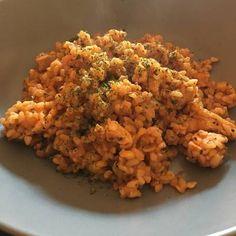 Fried Rice, Meat, Chicken, Anna, Ethnic Recipes, Food, Bulgur, Essen, Meals