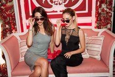 Nika y Priscila Hernández en la fiesta #CHMenEyewear