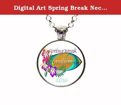 Digital Art Spring Break Necklace Or Keychain Cleveland Cavaliers March Madness College Basketball. With this listing you will receive a glass dome pendant and necklace with lobster clasp in organza bag shipped via U.S. mail with tracking number. Package is ready for gift giving. Matching key chains are also available with this design. For key chain choice select your pendant choice and then under necklace options you will select key chain. Four Pendant Choices Available: ANTIQUE SILVER...