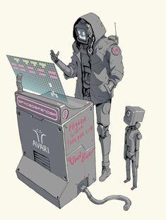 Robot Humanoïde, Arte Robot, Cyberpunk Aesthetic, Arte Cyberpunk, Cyberpunk Tattoo, Draw Tips, Character Concept, Character Art, Arte Zombie