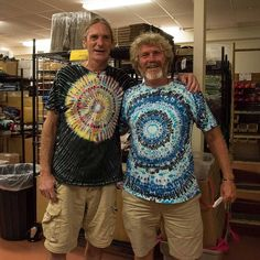 """Meet Mike, the amazingly skilled creator of our killer tie dyes! These unique dyes are more intricately patterned and boldly colorful than any others we've ever seen (and we've been digging tie dye for a good long while!), so we were stoked when he recently came to replenish our stock of these terrific tees!  One happy customer said, """"I've had Mikes shirts for 28 years haven't faded. Best dye art on earth!"""" That's a compliment on his craft that can't be beat!    Click through to get yours!"""