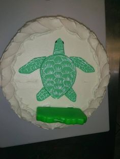 Sea turtle cake for a kid's birthday