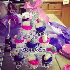 Barbie princess and the popstar microphone cupcakes