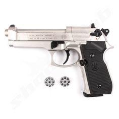 Beretta 92 FS CO2 Pistole Nickel - 4,5mm Diabolo