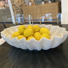 The Made Goods Darci Bowl in Oval is the ultimate accessory for your home decor scheme. This oval, carved tabletop accent suggests the undulating motion of the ocean. Fill this stunning bowl with lemons, oranges, or apples for an organic centerpiece in your home. Place on a coffee table, console, or bookshelf for an understated elegant look.