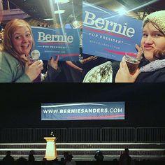 BERNIE AND BEERS  #beersandbernie #feelthebern #berniesanders #atl #foxtheater #politics #beer
