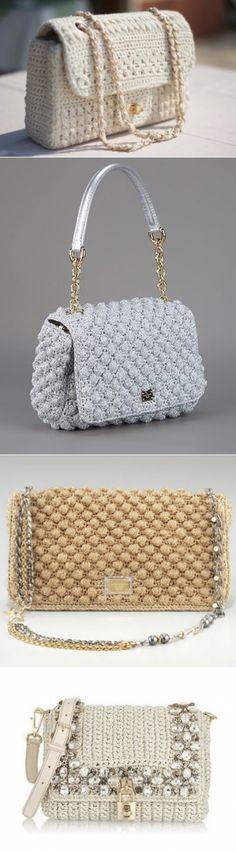 Вязаные сумки - идеи - Домашний hand-made