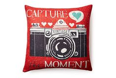 """Capture"" 20x20 Pillow, Red on OneKingsLane.com $37"