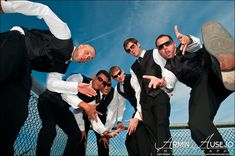 Crazy Groomsmen | The Alpers Groomsmen strike a pose for the… | Flickr