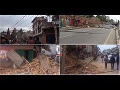 Un terremoto de 7,5 sacude Nepal y derrumba edificios en su capital.