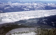 """The """"Chinese Wall"""" (continental divide) in the Bob Marshall Wilderness in Montana.  Bucket List."""