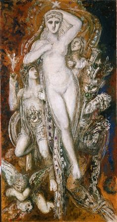 Helen Glorified, Gustave Moreau. French Symbolist Painter (1826 - 1898)
