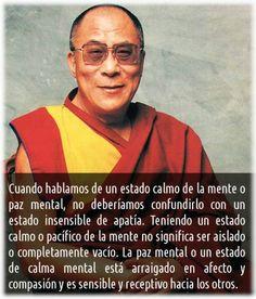 Calma/Paz mental... Dalai Lama #frases #citas