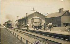 Depot, Ohio, Centerburg, RPPC, Cleveland Akron & Columbus Railroad