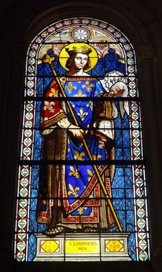 Stained Glass Church, Stained Glass Angel, Stained Glass Windows, St Louis, Luis Ix, Religion, Church Windows, Catholic Art, Masons