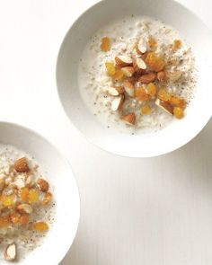 Whole Grain Goodness // Hot Rice Cereal with Nuts and Raisins Recipe #breakfast
