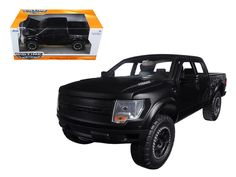2011 Ford F-150 SVT Raptor Pickup Truck Matt Black 1/24 Diecast Model by Jada - Brand new 1:24 scale diecast model car of 2011 Ford F-150 SVT Raptor Pickup Truck Matt Black die cast car model by Jada. Rubber tires. Brand new box. Detailed interior, exterior. Has opening doors, hood and rear gate. Made of diecast with some plastic parts. Please note that manufacturer may change packing box at anytime. Product will stay exactly the same.-Weight: 2. Height: 6. Width: 11. Box Weight: 2. Box…