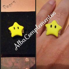 Anillo estrella de Mario #hechoamano en #AlbaComplementos #Anillo #ring #handmade #handmadejewelry #estrella #mario #star