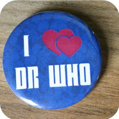I heart heart Doctor Who Themed Pinback Button