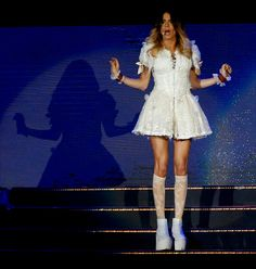 Violetta Outfits, Violetta Disney, Violetta And Leon, Violetta Live, Show Power, Thats Not My, White Dress, Teen, Ms