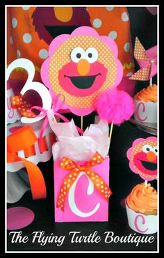 Deluxe Elmo Party Pack by FlyingTurtleBoutique on Etsy