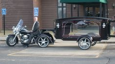 Cool motorcycle hearse