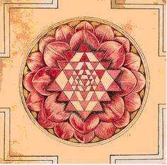 The Sri Chakra-Sri Yantra Mandala – Yes to Spirituality Tantra, Sri Yantra Meaning, Mandala Design, Mandala Art, Sri Yantra Tattoo, Chakra Tattoo, Shri Yantra, Sacred Geometry Symbols, Ramana Maharshi
