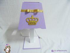 MA387 Abajur coroa #abajur #luminaria #luz #iluminação #coroa #decoração #realeza #princesa #príncipe #artesanato