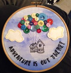 UP embroidery 7inch hoop  by Annakitart on Etsy https://www.etsy.com/listing/217212681/up-embroidery-7inch-hoop