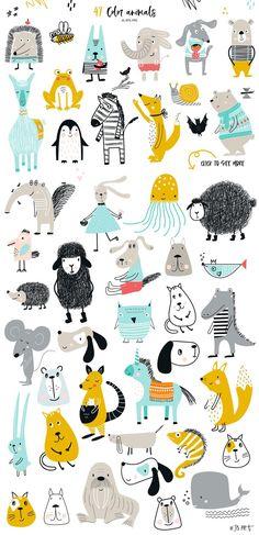 Big Kids, Kids Zoo, Art And Illustration, Illustration Animals, Art Illustrations, Art Wall Kids, Art For Kids, Art Children, Children Clipart