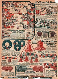 Vintage Sears Catalog Christmas decorations page * For free Christmas toys Arielle Gabriels The International Society of Paper Dolls also free China and Japan toys The China Adventures of Arielle Gabriel * Christmas Gift For You, Christmas Catalogs, Old Christmas, Old Fashioned Christmas, Christmas Toys, Retro Christmas, Christmas Classics, Purple Christmas, Christmas Fireplace