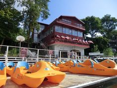 The first day of your Iowa staycation will be spent in Arnold's Park. Your first step is to check in at your beachside resort - the Fillenwarth Resort.