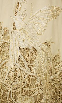 Silk Dress, details, 1904, Metropolitan Museum - The Costume Institute.