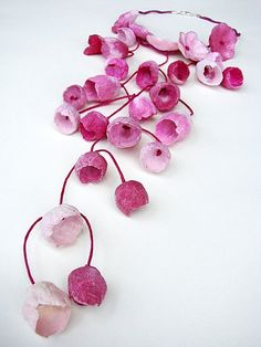 Eco friendly paper jewelry Cascade Necklace by AlessandraFabre