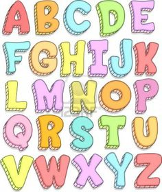 Doodle Illustration Featuring the Capital Letters of the Alphabet