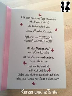 Der Patenbrief DIN ist … This sponsor letter is really a little eye-catcher. The letter of reference DIN is hinged and printed on the front with a tree of life. So you can fit this tree to suit … Maila, Reference Letter, Baby Birth, Happy Baby, Christening, Diy And Crafts, Baby Shower, Lettering, Balloons