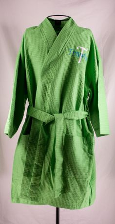 b05a14eb77 Great bridesmaid gift. Personalized Spa Robe Waffle Weave Kimono Green by  Millie s Gifts