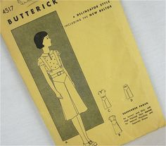 Vintage 20s Girls Dress Sewing Pattern, Butterick, 4517 | This is so stinkin' cute!