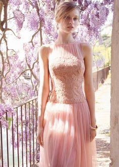 MANGO - Langes Kleid mit Spitze