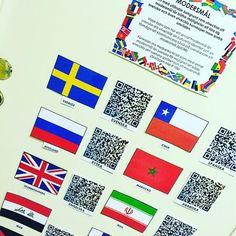 QR-koder med hej på olika språk. – PEDAGOG INSPIRATION
