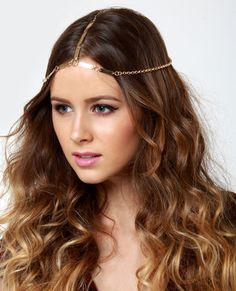 Into the Mystic Gold Chain Headpiece