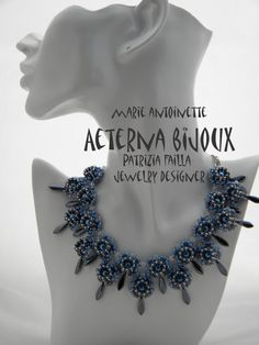 Beading tutorials and patterns Marie Antoinette  beadwork