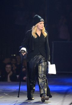 NEW YORK, NY - FEBRUARY 6: Madonna invites Russian punk group Pussy Riot to the stage at Amnesty International's 'Bringing Human Rights Home' concert at the Barclays Center on February 6, 2014, in New York City. (Photo by Cem Ozdel/Anadolu Agency/Getty Images)