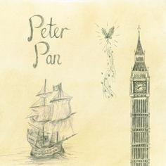 WATERSTONES Peter Pan sketches