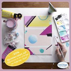 Hochpigmentierte Acrylfarben und das richtige Zubehör sind dabei ein Must-have. Mehr Infos bekommt und das richtige Material bekommt ihr jederzeit bei Farben Steger – dem Spezialisten in Sachen Farbe! #künstlerrabatt #aktion #acrylfarben #keilrahmen #lefrancbourgoise #liquitex #kauflokal #farbensteger #shopping #josalzburg Liquitex, Material, Abs, Engagement, Canvas Frame, Deco, Eagle, Action, Weather